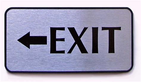 exit signs for office wall check out signs policy wall