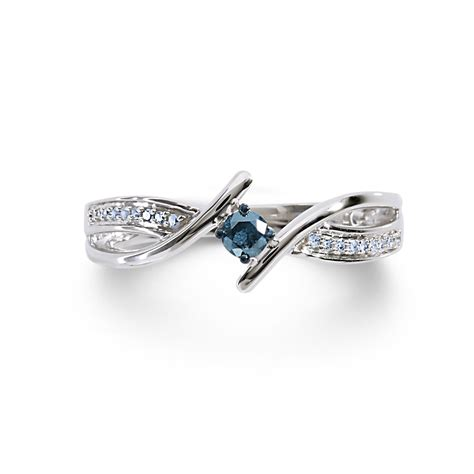 1 7cttw silver blue promise ring jewelry