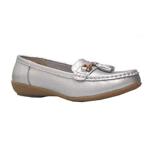 Jo In Shoes jo joe womens shoe nautical silver
