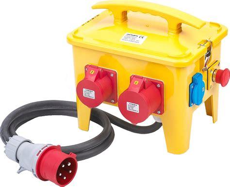 coffret electrique de chantier 1826 coffret de chantier portatif 7 prises 16 32a 230 415v