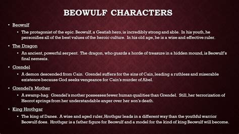 themes in beowulf that relate to today beowulf ppt video online download
