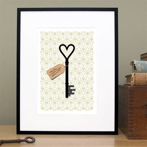 new home gift ideas personalised home is where new home gift print by