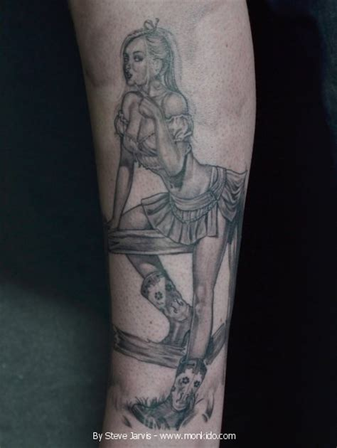 pin up tattoo black and grey monki do tattoo studio black and grey pin up tattoo