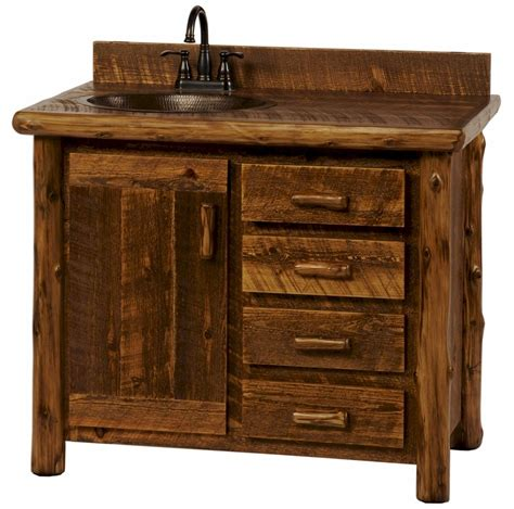 Rustic Bathroom Furniture Sawmill C Rustic Vanity