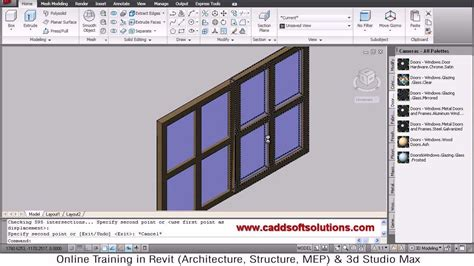 design center window autocad autocad 3d window tutorial autocad 2010 youtube