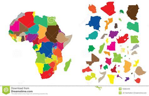 L Puzzle by Puzzle De Continent De L Afrique Images Libres De Droits