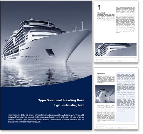 nice templates for word royalty free cruise microsoft word template in blue