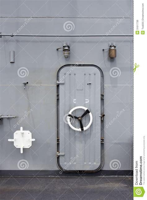 Doors Ship by Iron Ship Door With Lock Wheel Stock Photo Image 31017730