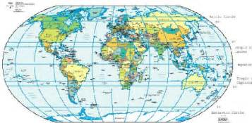 World Map Latitude And Longitude by A Map Of The World With Latitude And Longitude