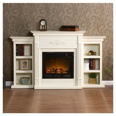 electric fireplace mantle entertainment center tv remote