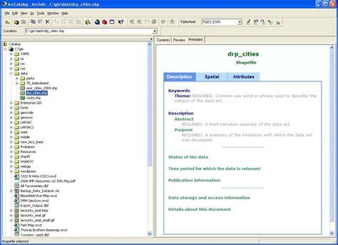 arcgis metadata tutorial metadata import exle los angeles county enterprise gis