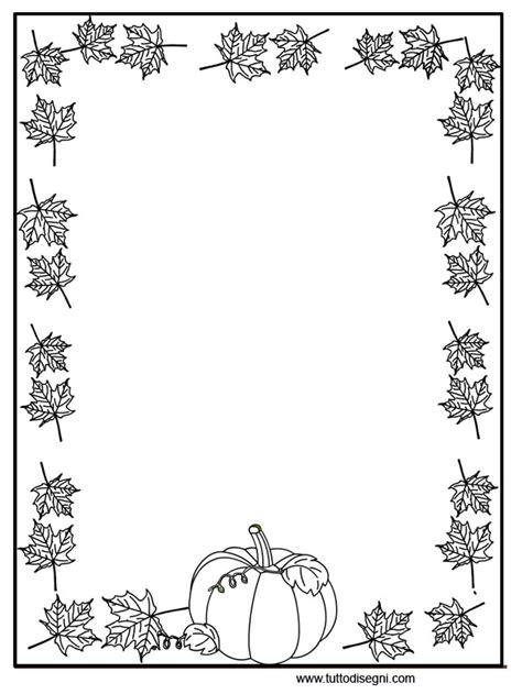 cornice autunno cornicetta zucca foglie2 tutto disegni