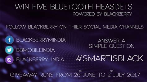 Giveaway India - plantronics bluetooth headset giveaway powered by blackberry mobile india