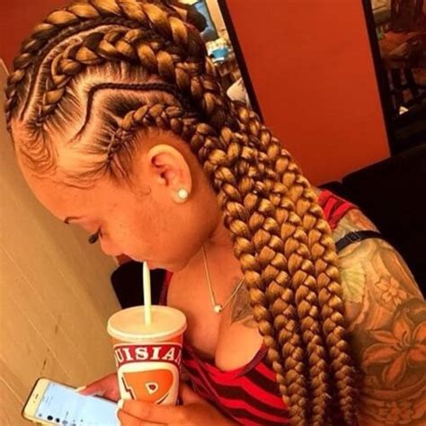 Long Goddess Braids With Weave