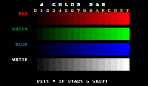 test pattern generator arcade choko service mode vas the man