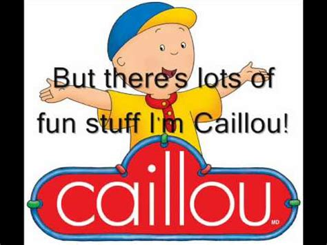 theme song caillou caillou theme song videolike