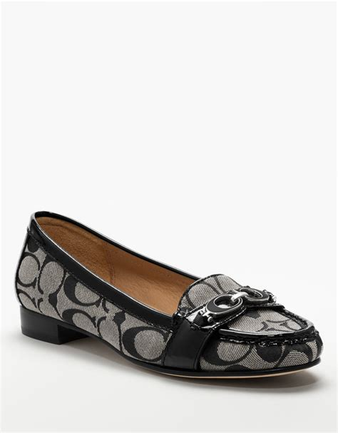 coach loafer coach farrera loafer in gray black lyst