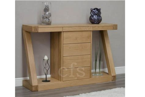 Z Oak Console Table Homestyle Gb Z Oak Designer Console Table With Drawers Absolute Home