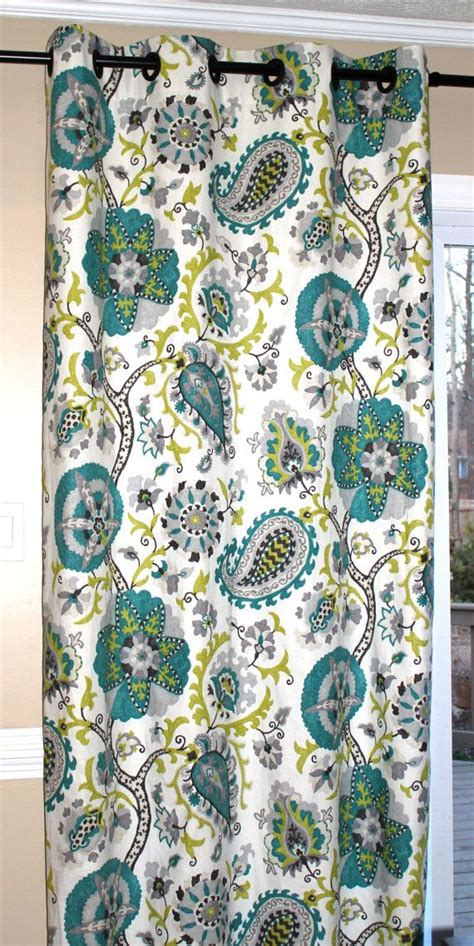 peacock curtain panels linen ladbroke peacock curtain panels by simplystagedhome