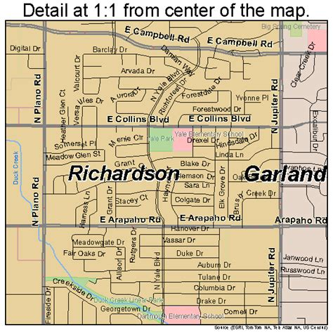 richardson texas map richardson texas map 4861796