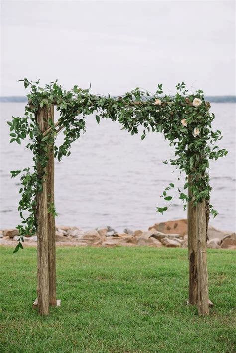Wedding Arch Greenery by Lakeside Navy And Blush Wedding Wedding