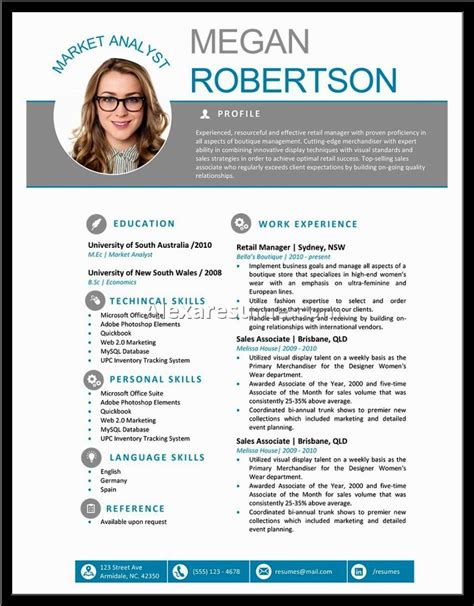 free resume templates professional profile template