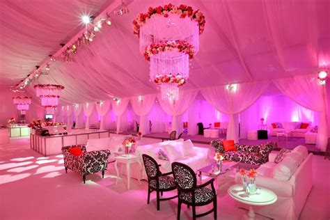 pink dominated the tent from classic rentals