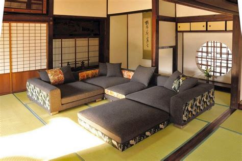 modern asian decor japanese style living room ideas with modern couch set