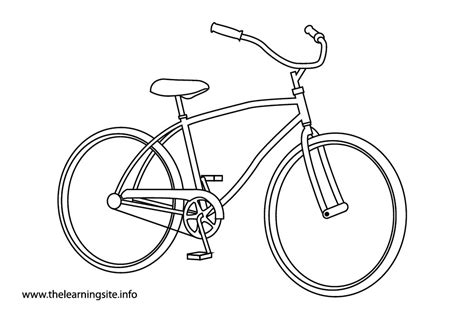 tricycle coloring pages preschool pushbike clipart outline pencil and in color pushbike