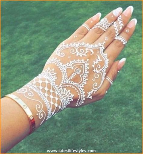 white henna tattoo on hand henna designs white makedes