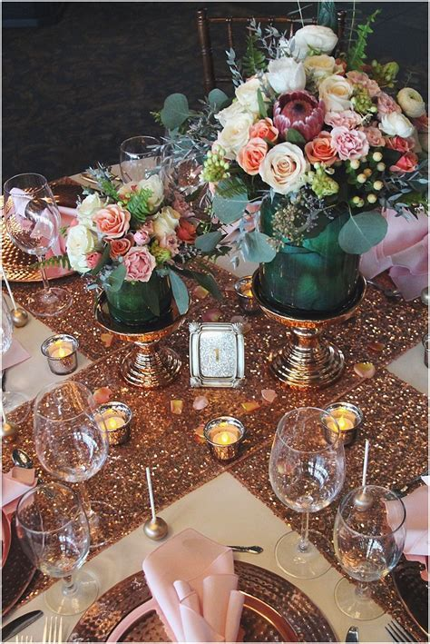 rose gold, sequin and blush wedding inspiration in 2019