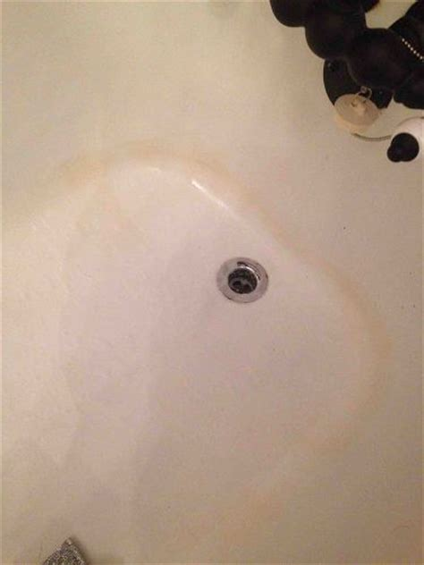 bathtub yellow stain removal cleaning a claw foot tub hometalk