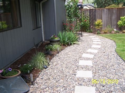 pebble walkway great idea pinterest