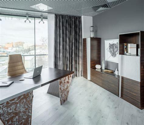 concrete home office interior design ideas brutal elegant office mixture of concrete and zebrawood