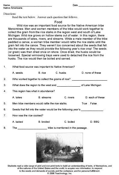 theme practice exles native americans theme worksheet sle