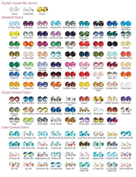 swarovski colors swarovski color chart for 2014 color edelsteine