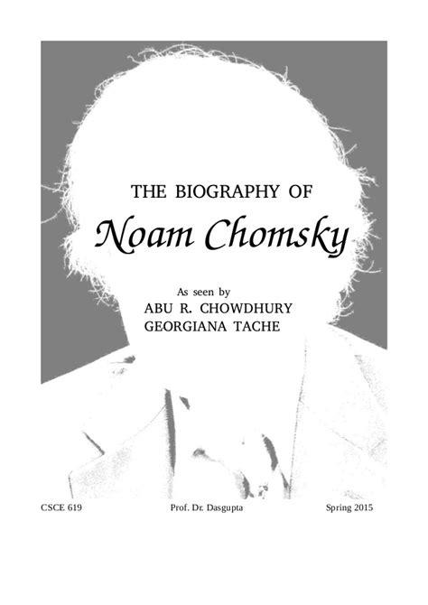 Noam Chomsky Biography Ppt | biography of noam chomsky