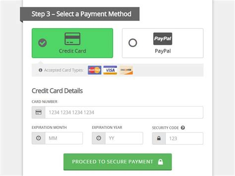 Credit Card Form Layout Designing Credit Card Payment Forms Visual Hierarchy