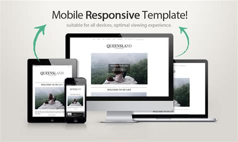 mobile responsive design template template queensland templates