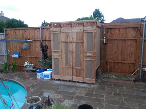 Pool Equipment Shed by Cedar Wood Shed To Cover Hide Pool And Equipment I