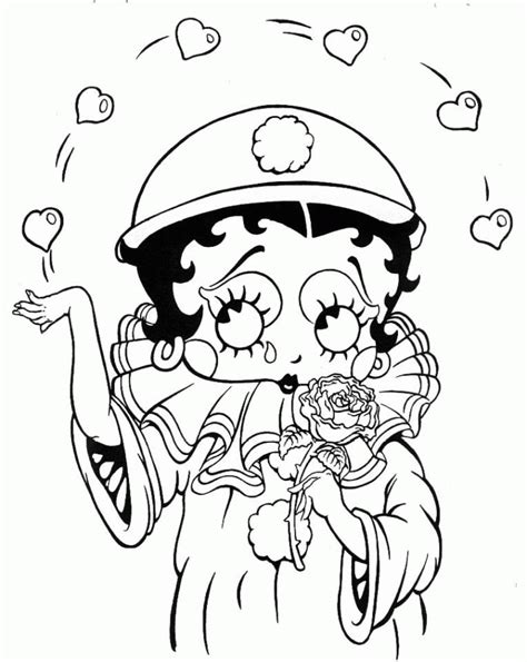 black betty boop cartoon colorier dessin com coloriage gratuit imprimer et colorier