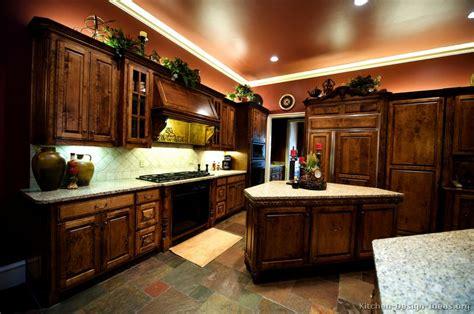 pictures kitchens traditional dark wood kitchens golden brown