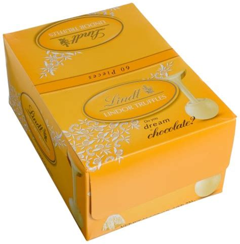 A Box Of White Chocolate lindt lindor white chocolate truffles 60 count box new ebay