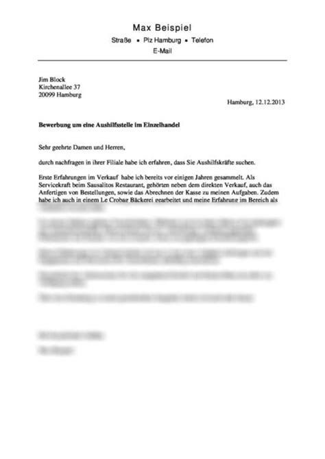 Bewerbungsschreiben Servicekraft Bewerbungsmuster Bewerbungsschreiben F 252 R Aushilfsstelle Im Einzelhandel Kfz Mechatroniker