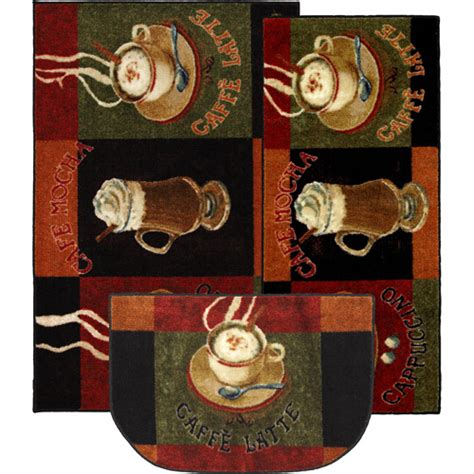 Apple Canisters For The Kitchen by Mohawk Caffe Latte 3 Piece Printed Kitchen Rug Set