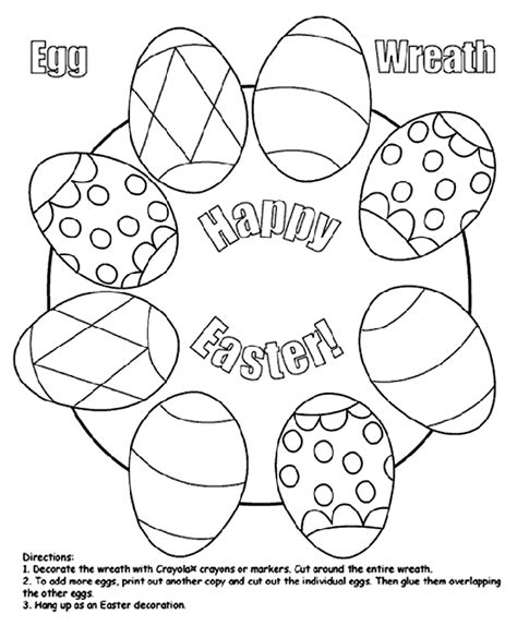 easter coloring pages crayola easter egg wreath crayola ca