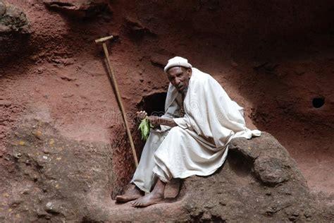 coptic monk coptic monk in lalibela editorial stock photo image