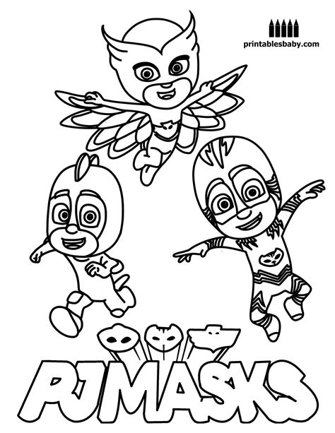 mask coloring pages pj masks coloring pages printable printable free