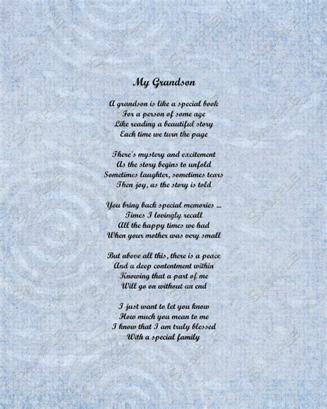 Birthday Quotes For Grandparents Grandson Poem Love Poem 8 X 10 Print Instant By