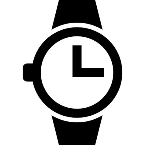 Montre bracelet de la circulaire horloge de forme   Télécharger Icons gratuitement